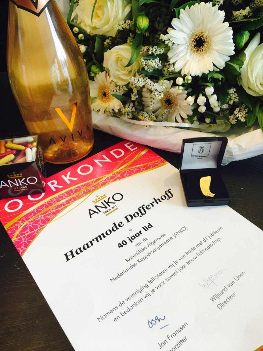 40 jaar trouw ANKO lid